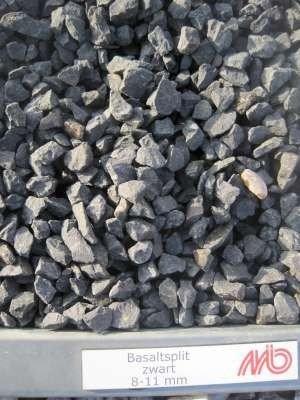 Basalt split zwart, (Sierkiezel) 8-11 mm