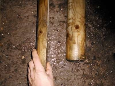 Bovenlat halfrond 3 meter, diameter 10 cm